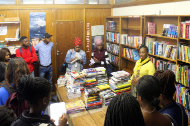 DCAS Book Selector, Nomonde Ngqoba explains the processes of book selection