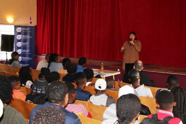 DCAS Deputy Director Liezl Jansen offered words of encouragement to performers