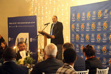 DCAS Director Paul Hendricks during his address at the Cape Winelands Sport Awards