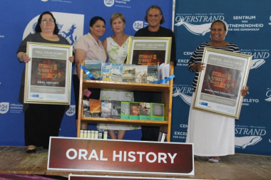 DCAS Minister, Anroux Marais, with the DCAS Libraries staff at the Oral History Initiative Launch
