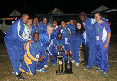 DCAS officials with the trophies that were won at the event