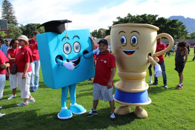 DCAS showing off their brand new mascots, ensuring excitement in everyon...