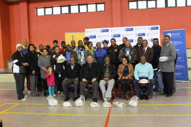 DCAS, SRSA and WCED officials with representatives from the various clubs and schools
