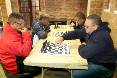 Dedicated chess players compete against each other at the Overberg BTG