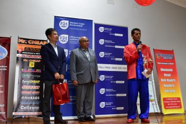 Deputy Consul General Cao Li, Minister Albert Fritz and MJ Li