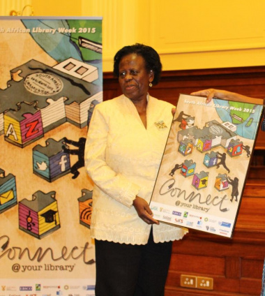 Deputy Minister of Arts and Culture Rejoice Mabhudafasi at the SA Library Week launch