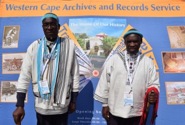 Dignified leaders at the display of DCAS Archives and Records Service on Heritage Day in Saldanha Bay