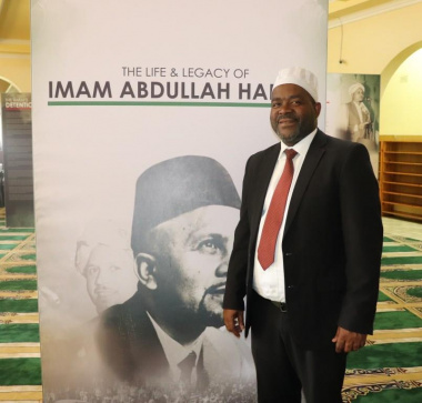 Director for Heritage and Museums Dr Mxolisi Dlamuka at the travelling exhibition on display in the Masjid