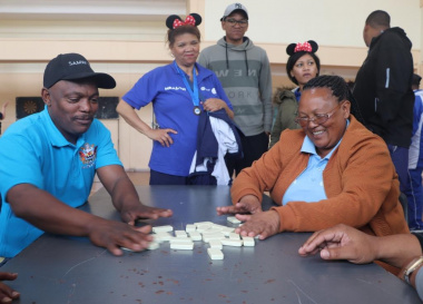 Dominoes made for some great spectator sport at the Eden BTG.