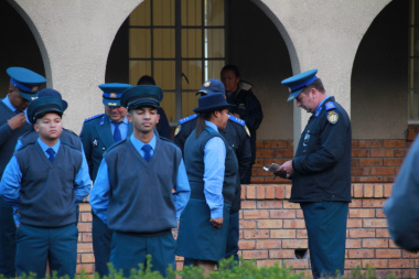Parade inspection by Chief Provincial Inspector D Smit