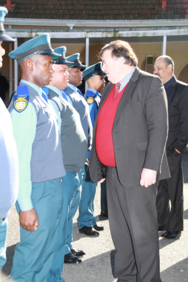 Minister Donald Grant inspecting the parade