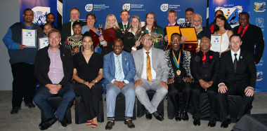 Dr Bouah, Thabo Tutu and JP Naude with the winners