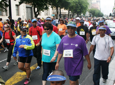 Dr Ivan Meyer doing the 10km Big Walk from the Grand Parade, Cape Town