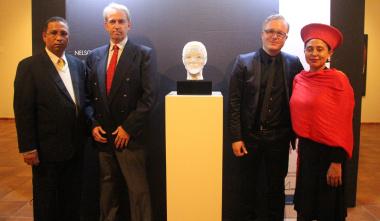 Dr Ivan Meyer, Mr Dirk Brand (Bavarian Government), Tom Rucker and Ms Marlene le Roux (Artscape).