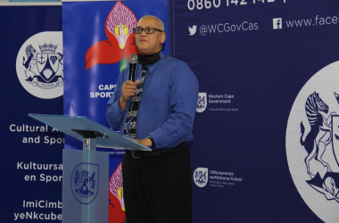 Dr Lyndon Bouah, chief director for sport and recreation at DCAS, addresses the heads of Cape Town sports federations on Tuesday.