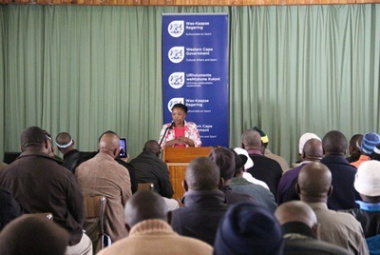 Dr Mbombo addresses representatives from 26 Western Cape initiation forums