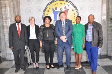 Bonginkosi Tshendu, Jacqui Gooch, Christina Saku, Donald Grant, Thabisa Mayekiso, and John Titus.