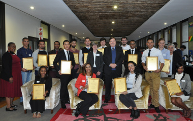 Minister Grant, Head of Department Ms Jacqui Gooch, and all the 2016 Masakh'iSizwe Bursary recipients and the Masakh'iSizwe team.