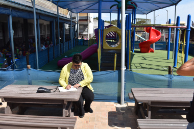 Minister Fernandez at the Montessori 3 Bears Educare in Mitchell's Plain