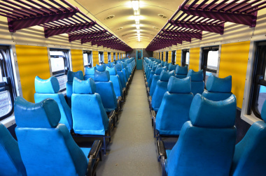 The carriages boast comfortable seats.