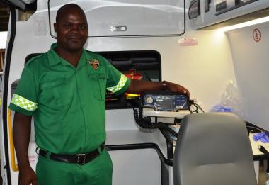Emergency Care Officer Bam Mvangeli from Lentegeur EMS.