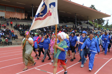 Employees from the Department of Health geared up to participate in the march-past