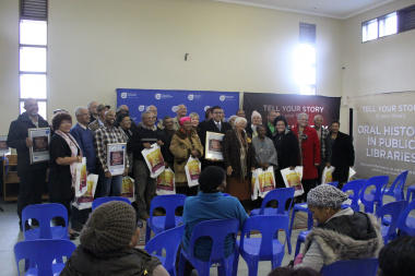 Enthusiastic storytellers from Mamre and Pella with their Oral History DVDs