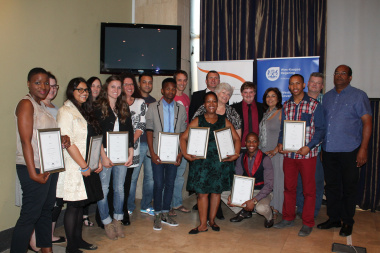 EPWP beneficiaries with their trainers, mentors and Hannetjie du Preez, DCAS Chief Director of Cultural Affairs
