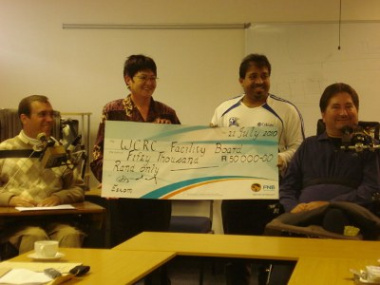ESKOM hand over R50 000 to Western Cape Rehabilitation Centre (WCRC)