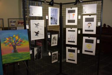 Exhibited art