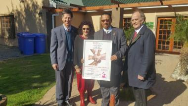 PHOTO: CEO of FASfacts, Francois Grobbelaar; FASfacts Ambassador and Councillor for De Doorns, Ms Elza  Jordaan; Minister Meyer, and Mayor of Cape Winelands, Alderman  C.A. de Bruyn.