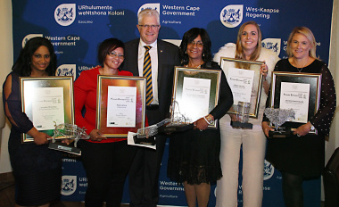 Minister Alan Winde with the award winners