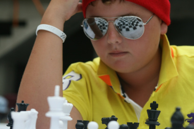 Finding the best move requires intense concentration.