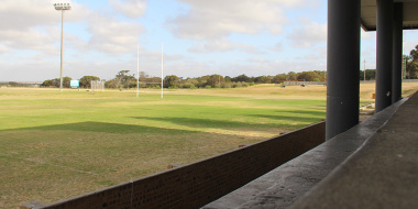 Floodlights were recently installed at the Glaskasteel Sports Complex in Bredasdorp