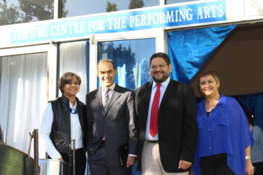 From left: Henriette Webber, Director of the UWC Centre for Performing Arts, UWC Vice-Chancellor Prof. Tyrone Pretorius, DCAS Head of Department Brent Walters, and DCAS Deputy Director for Cultural Affairs Nerine Jeaven.