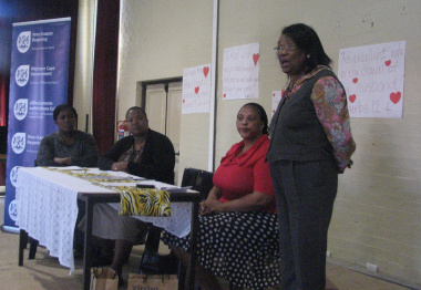 From left to right, Deputy Principal Nokulunga Sophazi, Nomhle Mnunu (facilitator), Pamela Ntlokwana (DCAS) and Jane Moleleki (DCAS)