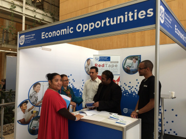 The Department of Economic Development and Tourism assisting entrepreneurs at the Western Cape Funding Fair