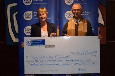 Genadendal Museum received annual funding from DCAS at the Museum Symposium in Cape Town