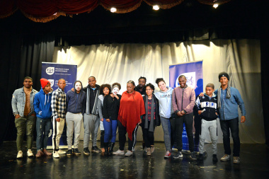 George finalists of Eden Drama Festival 2018 with the adjudicators
