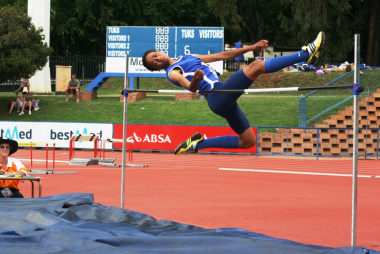 Geraldine King won gold in the girls' u15 high jump event.