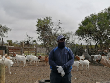 Goat Farmer, Gideon Mgwaza listening attentively during the workshop