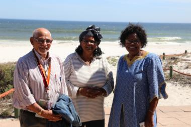 Gorachouqua Tribe Paramount Chief Hennie Van wyk, Alice Thiam, Director of Arts,Culture and Language Mrs. Jane Moleleki