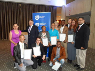Graduated EPWP beneficiaries with representatives of DCAS and Artscape.
