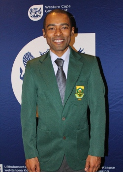 Grandmaster Kenny Solomon in his official South African colours
