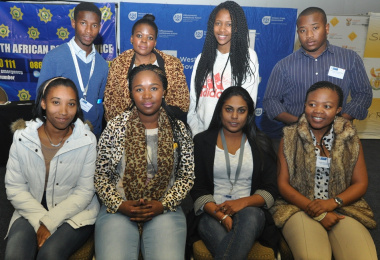 The steering committee elected at the summit: Back row: Xolisa Mtshiselwa (Eden), Patho Tebese (Cape Metro), Noluthando Coka (Cape Metro) and Inga Gozongo (Cape Metro). Front row: Vanessa King (Cape Winelands), Noluvo Nojoko (Cape Metro), Toshina Vanmari.