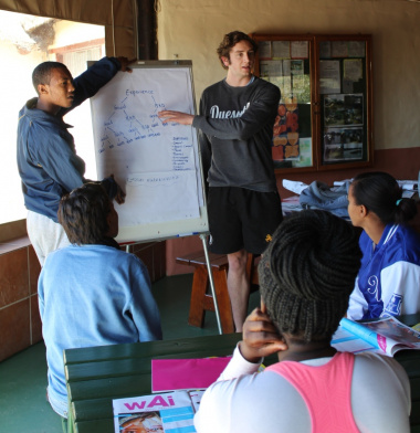 Groups presenting during the 'Who am I' session hosted by LoveLife.