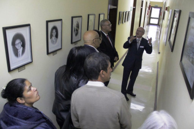 Guests learning about the interesting history of the Provincial Archives in Roeland Street, Cape Town.