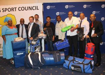 Hawston Rugby Club, Mount Pleasant Netball Club and Overstrand Whale Boxing Club all received equipment from DCAS as part of the National Department's plan in terms of club development