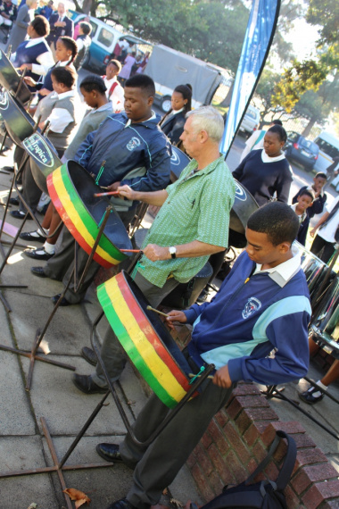 Heideveld Secondary School learners who participate in the DCAS schools steelband project entertained guests as they arrived at the launch.