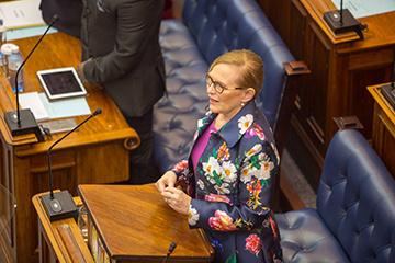 Premier Helen Zille speaking in Provincial Parliament